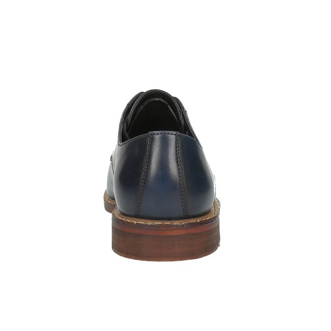 Ležérní kožené polobotky bata, modrá, 826-9644 - 17