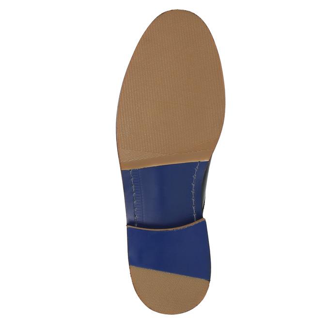 Ležérní kožené polobotky bata, modrá, 826-9644 - 26