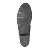 Dámské kožené kozačky s přezkou bata, černá, 596-6141 - 26