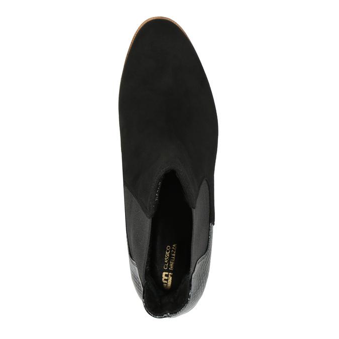 Kožená kotníčková obuv ve stylu Chelsea Boots classico-and-bellezza, černá, 513-6001 - 19