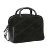 Malá kožená kabelka s popruhem bata, černá, 963-6133 - 13