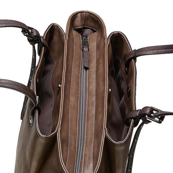 Hnědá dámská kabelka bata, šedá, 961-2123 - 17