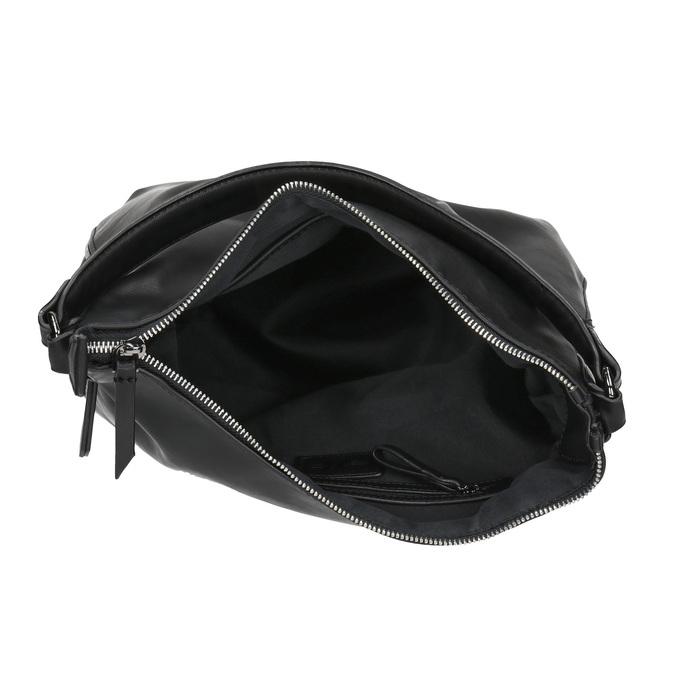 Kabelka v Hobo stylu s detailem zipu bata, černá, 961-6609 - 15
