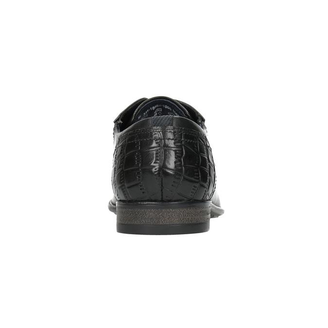 Pánské kožené polobotky bugatti, černá, 824-6011 - 17