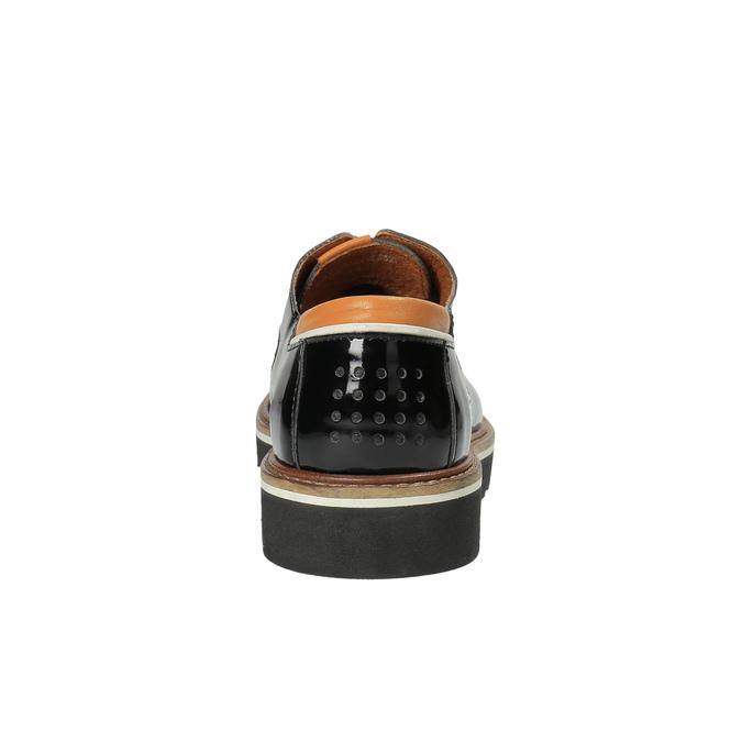 Kožené lesklé polobotky na výrazné podešvi tbs-, černá, 628-6065 - 17