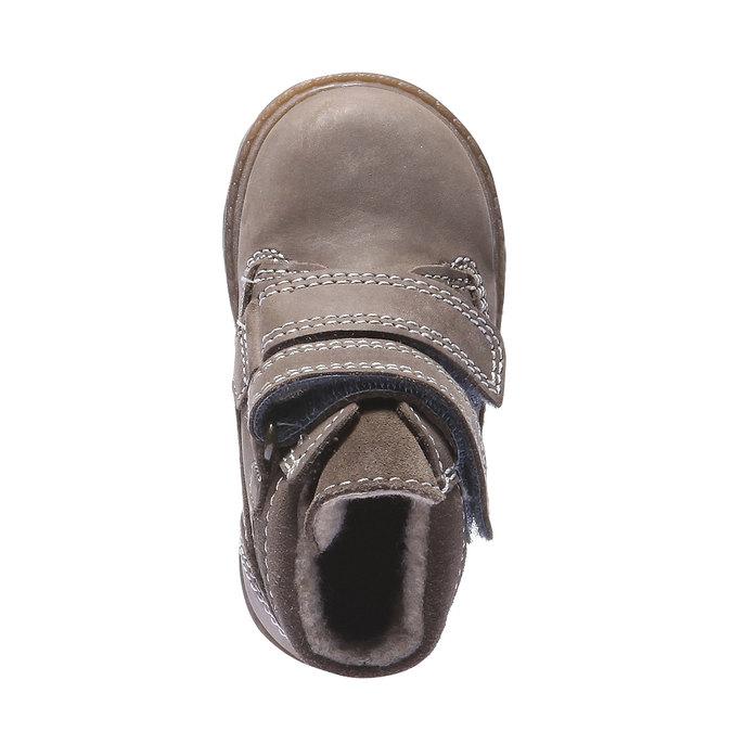 Dětská kožená obuv richter, žlutá, 296-8002 - 19