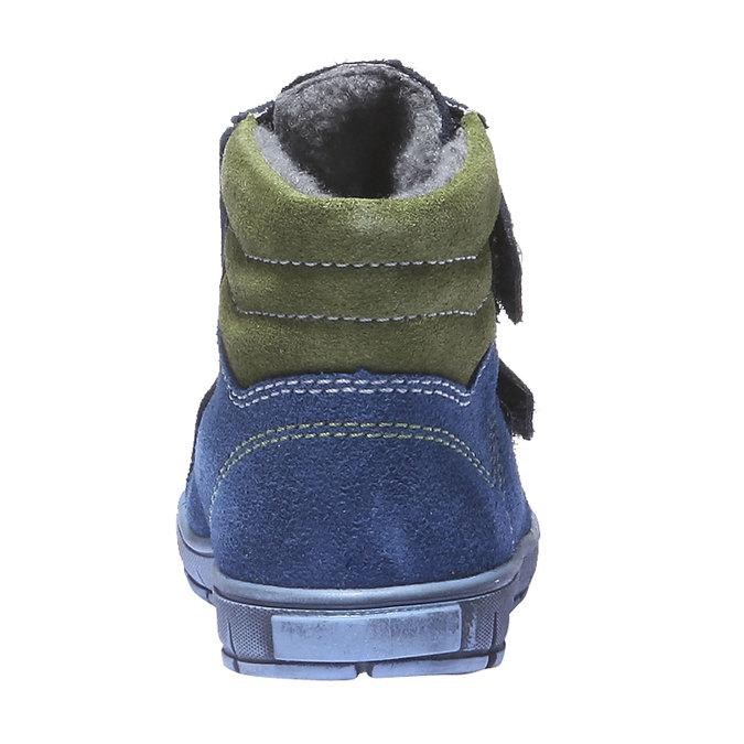 Dětská kožená obuv richter, modrá, 193-9004 - 17