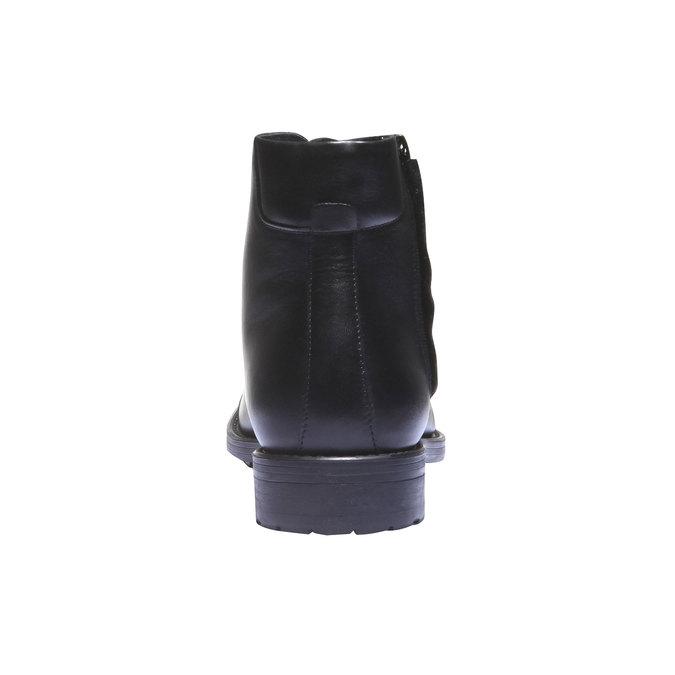 Kožené kotníkové boty v Derby střihu bata, černá, 894-6259 - 17