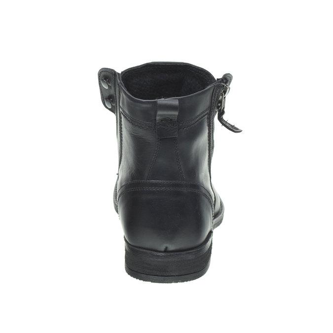 Kožená kotníčková obuv bata, černá, 894-6449 - 17