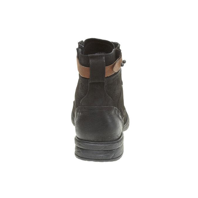 Kožené kotníkové boty bata, černá, 894-6165 - 17