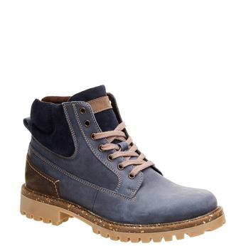 Kožené kotníčkové boty s výraznou podešví weinbrenner, modrá, 896-9102 - 13