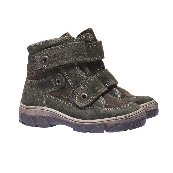 Dětská kožená obuv richter, zelená, 396-7001 - 26