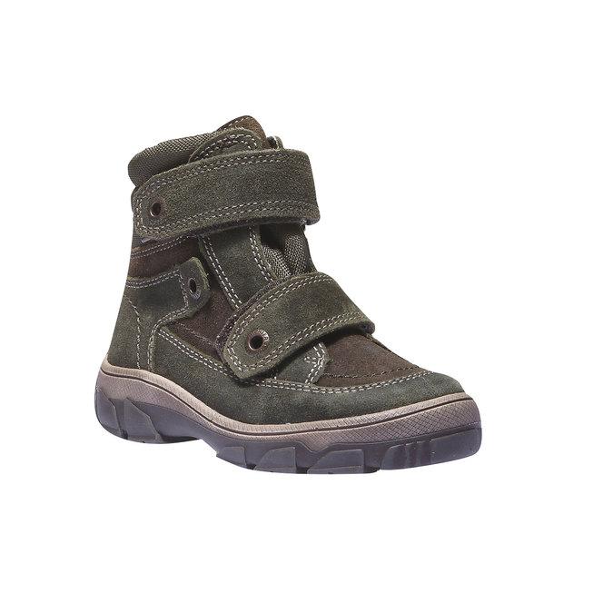 Dětská kožená obuv richter, zelená, 396-7001 - 13