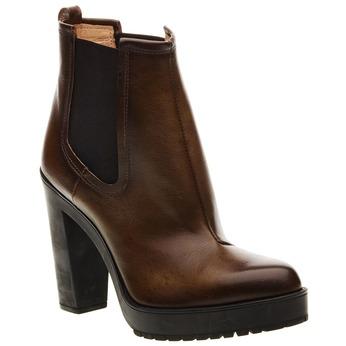 Kožená kotníčková obuv diesel, hnědá, 796-7100 - 13