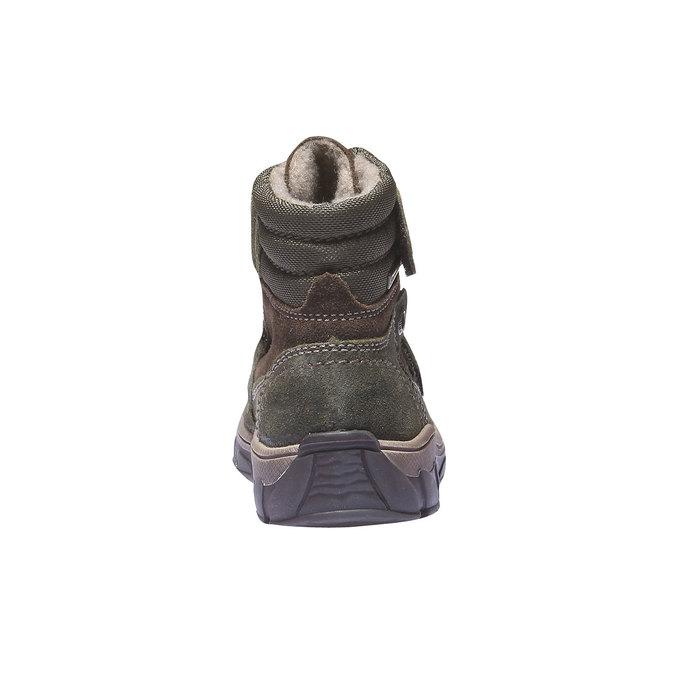 Dětská kožená obuv richter, zelená, 396-7001 - 17