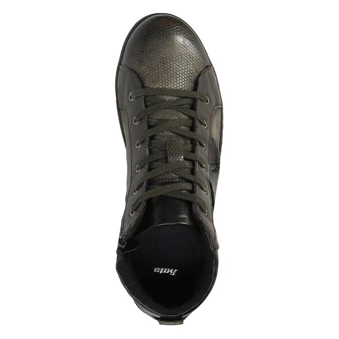 Pánská kotníčková obuv kožená bata, šedá, 846-2602 - 19