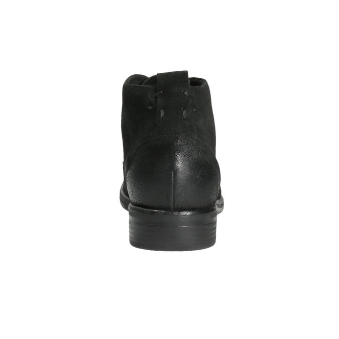 Kotníčková obuv z broušené kůže bata, černá, 846-9611 - 17