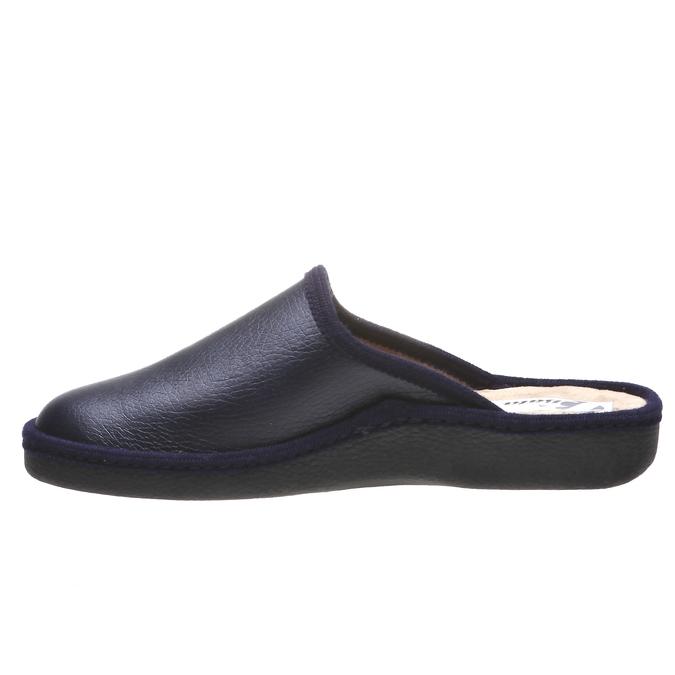 Pánská domácí obuv s uzavřenou špicí bata, modrá, 871-9304 - 15