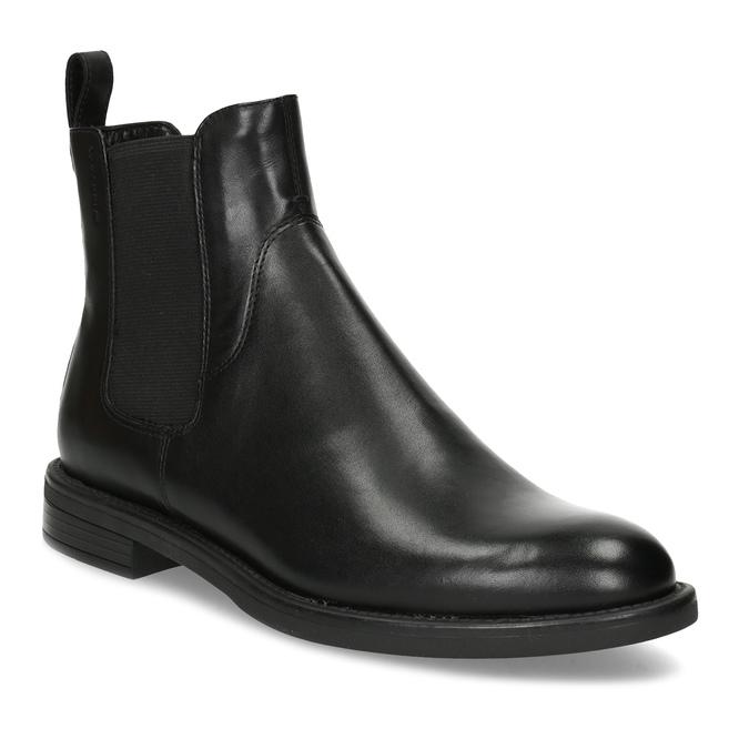 Černé kožené Chelsea Boots vagabond, černá, 514-6007 - 13
