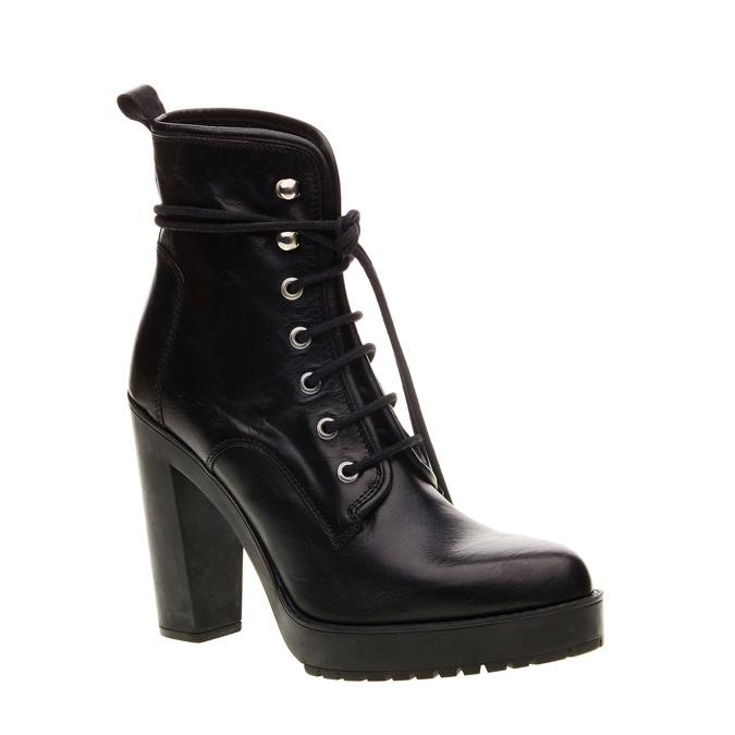 Kožená kotníčková obuv diesel, černá, 794-6141 - 13