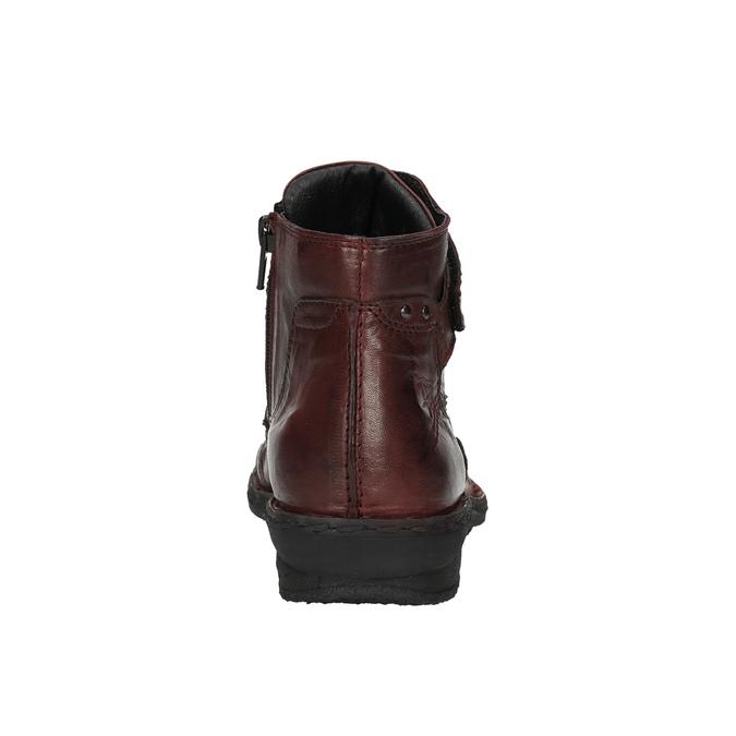 Dámská kožená obuv bata, červená, 526-5602 - 17