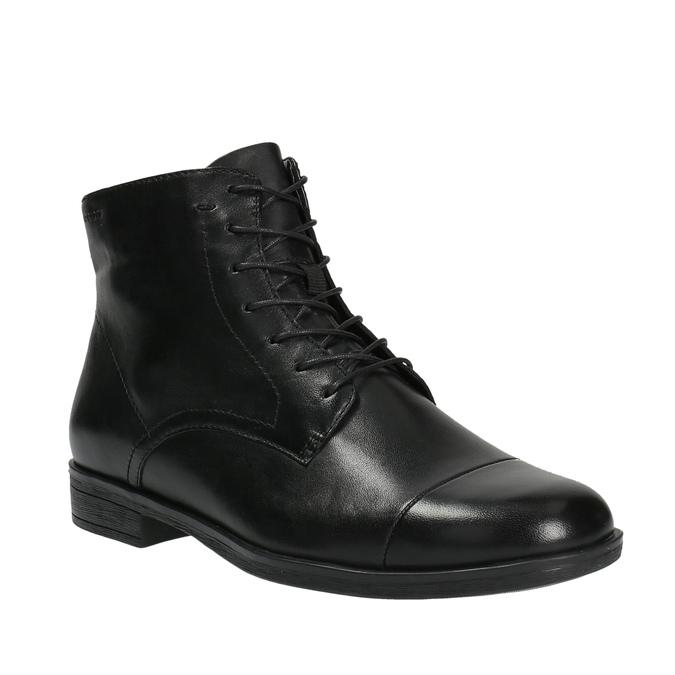 Kožená kotníčková obuv šněrovací vagabond, černá, 524-6006 - 13
