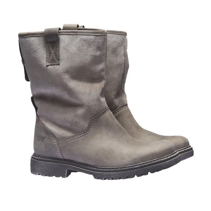 Kožená obuv s protiskluzovou podešví weinbrenner, hnědá, 596-3100 - 26