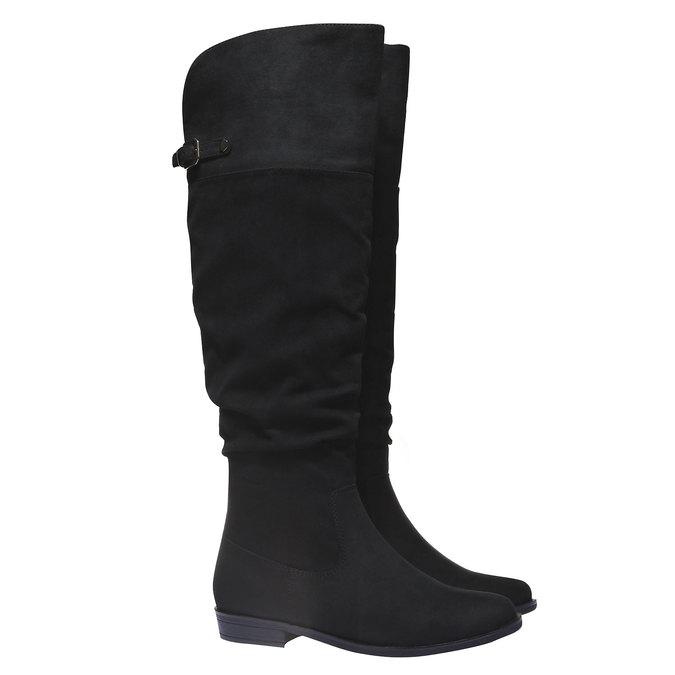 Kozačky na nízkém podpatku bata, černá, 599-6105 - 26
