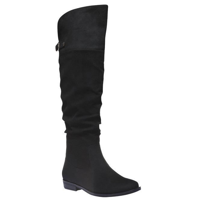 Kozačky na nízkém podpatku bata, černá, 599-6105 - 13