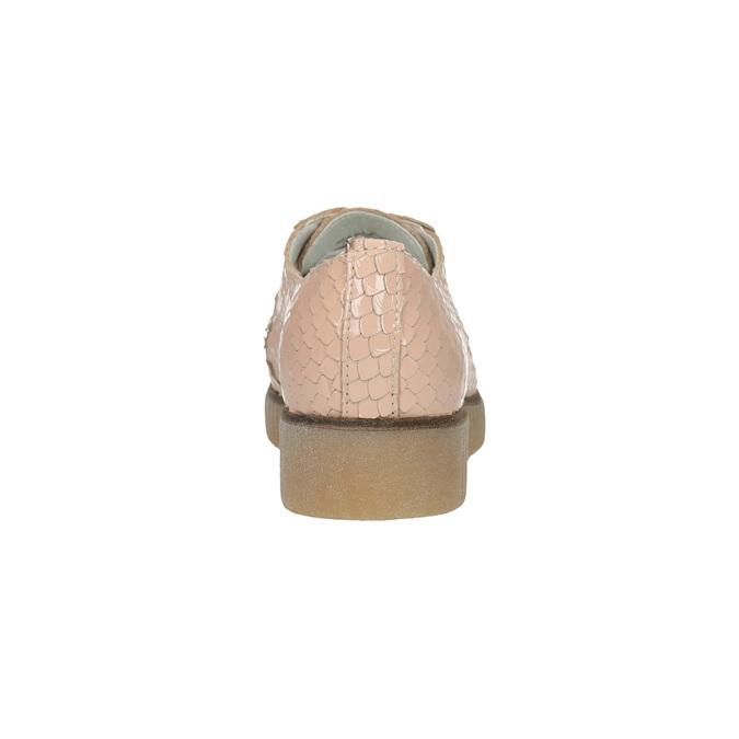 Dámské kožené polobotky bata, růžová, 526-5613 - 17