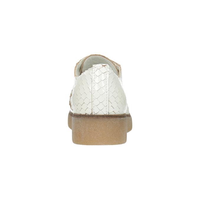 Světlé kožené polobotky bata, bílá, 526-1613 - 17