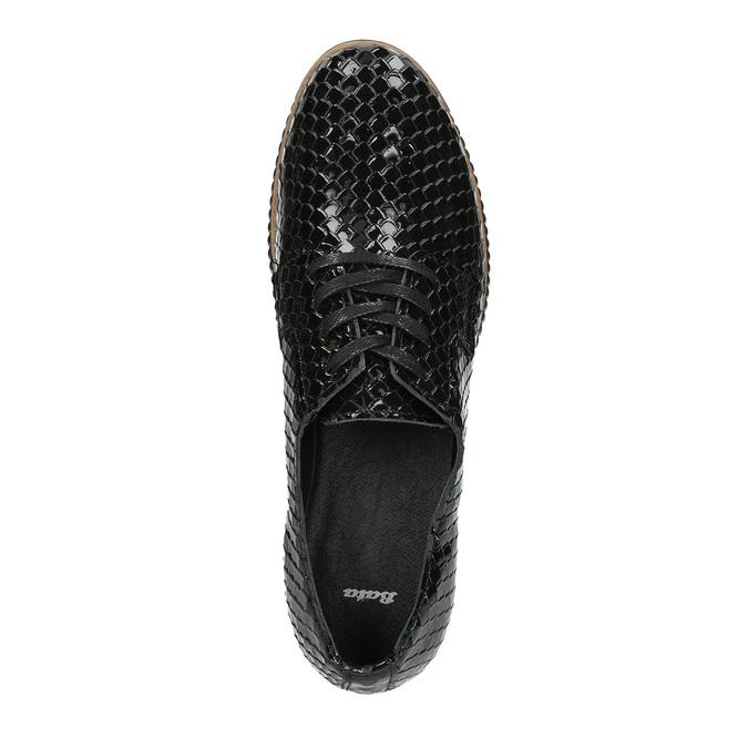 Ležérní kožené dámské polobotky bata, černá, 526-6613 - 19