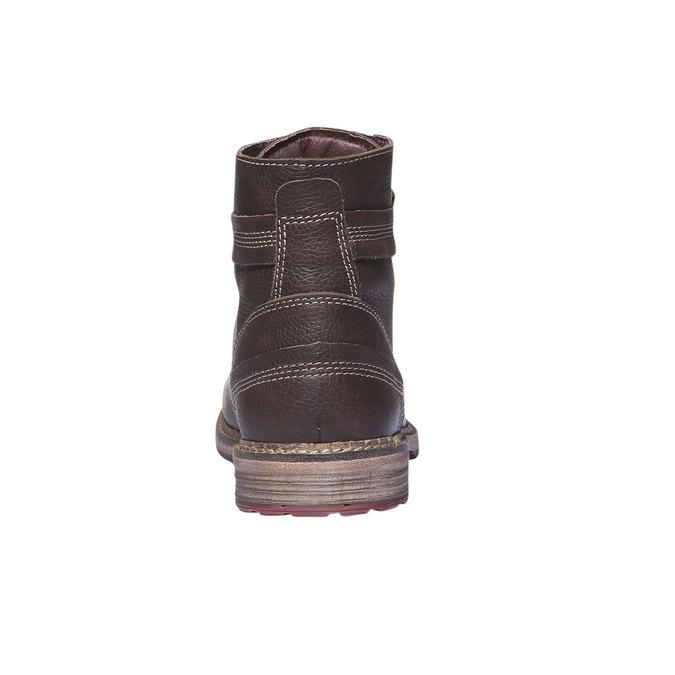 Kožené kotníčkové boty se zipem bata, hnědá, 894-4128 - 17