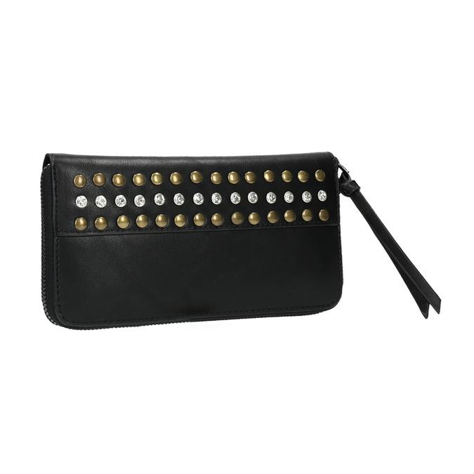 Dámská peněženka s cvočky bata, černá, 941-6140 - 13