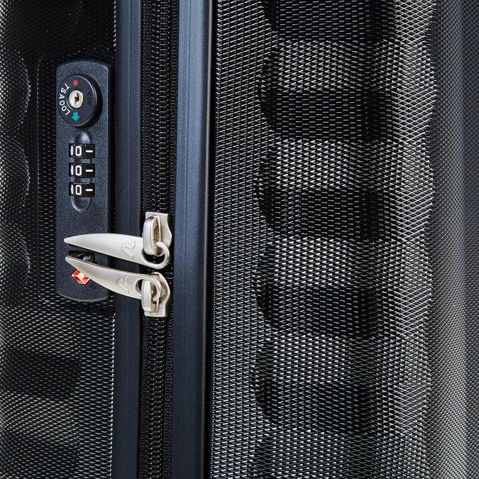 Černý cestovní kufr na kolečkách roncato, černá, 960-6602 - 17