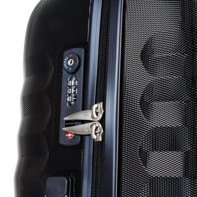 Černý cestovní kufr na kolečkách roncato, černá, 960-6601 - 17