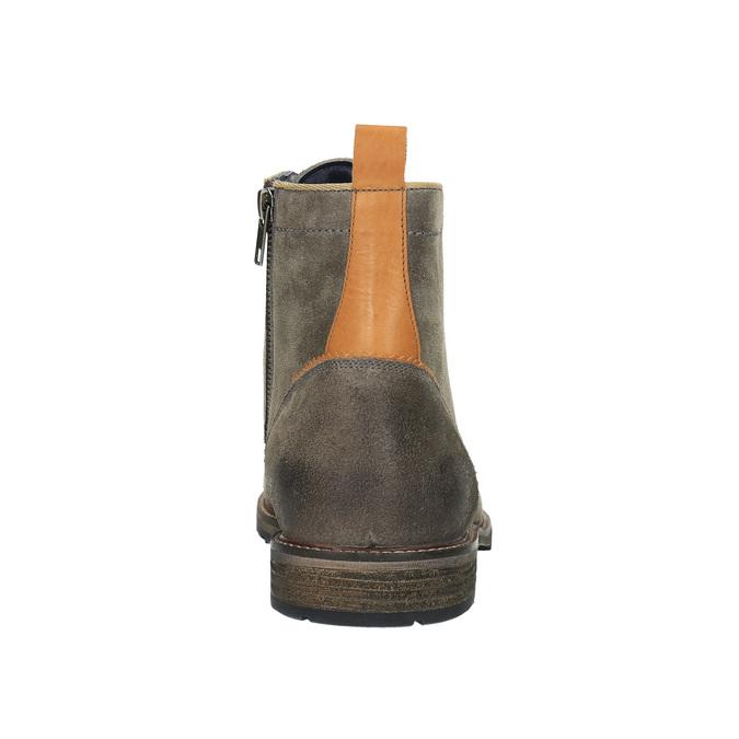 Pánská kotníčková obuv bata, šedá, 893-2651 - 17