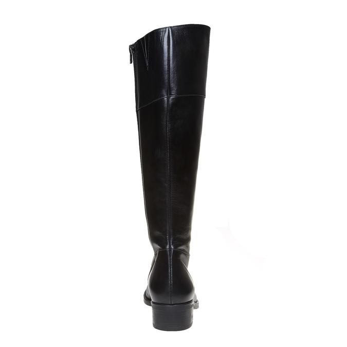 Vysoké kožené kozačky bata, černá, 594-6223 - 17