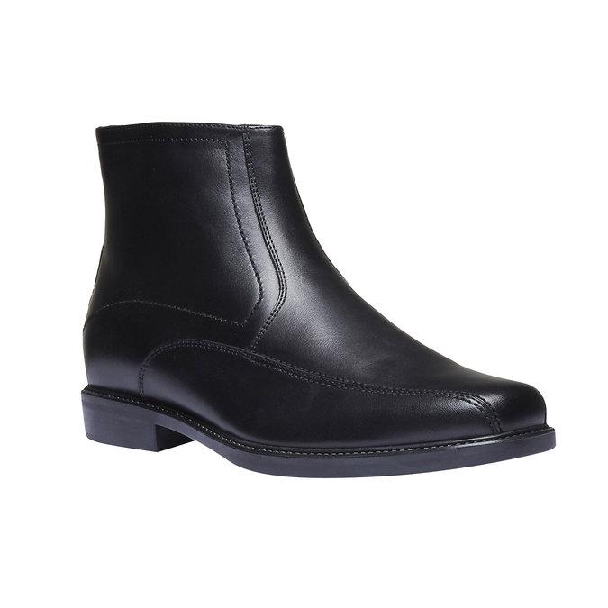 Kožené kotníčkové boty bata, černá, 894-6257 - 13