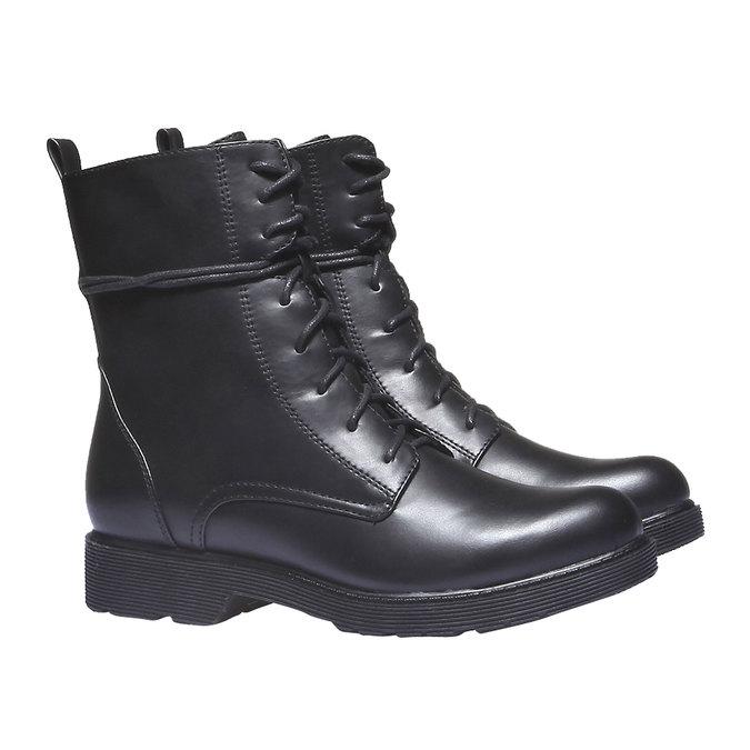 Kotníkové šněrovací boty bata, černá, 591-6247 - 26