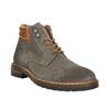 Kožená kotníčková obuv na výrazné podešvi bata, šedá, 893-2650 - 13