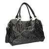 Kožená taška v Bowling stylu a-s-98, černá, 966-6020 - 13