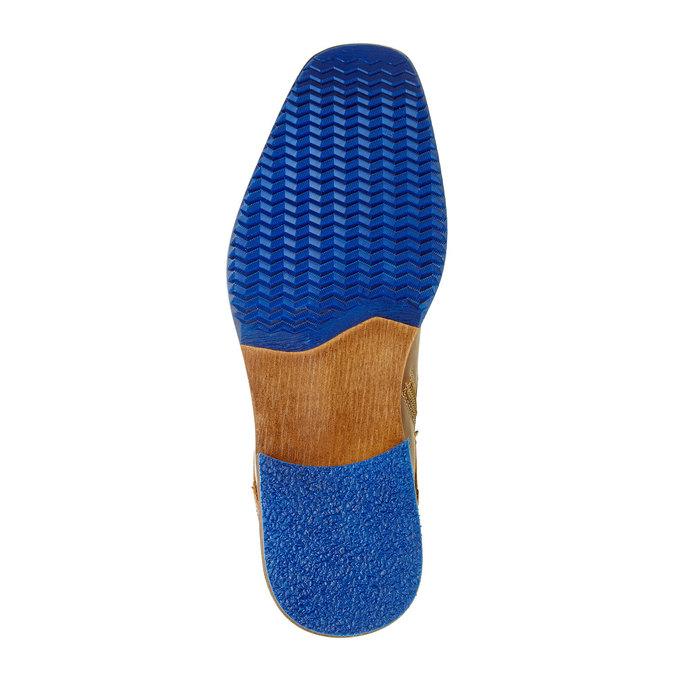 Kožená kotníčková obuv pánská bata, hnědá, 894-4620 - 26