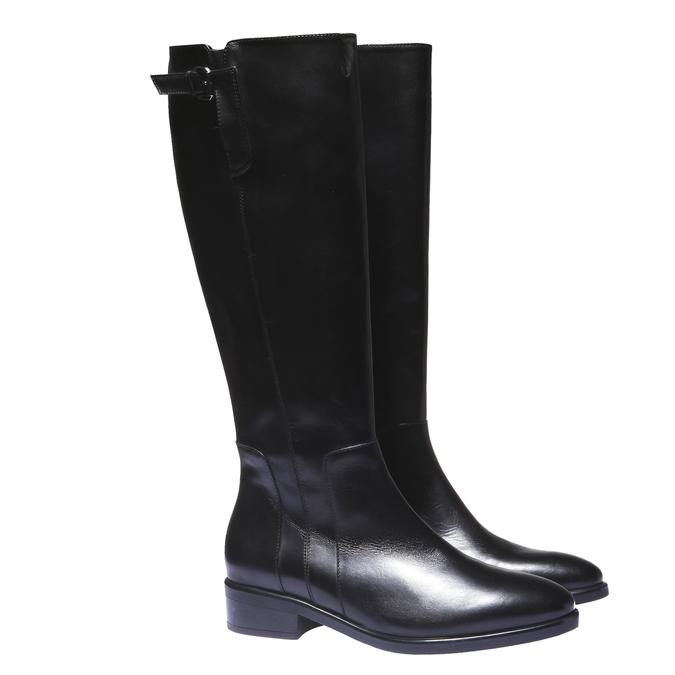 Kozačky na nízkém podpatku bata, černá, 594-6109 - 26