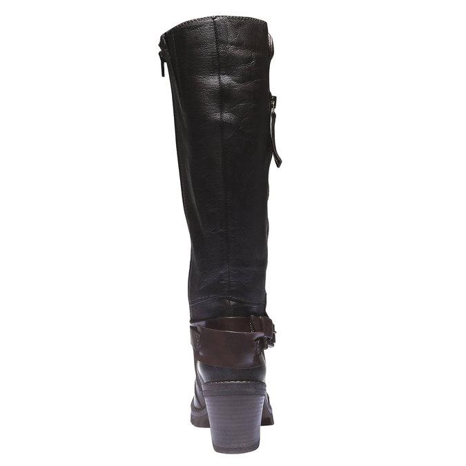 Kožené kozačky s originální podešví bata, hnědá, 796-4141 - 17