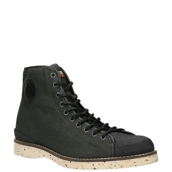 Pánská zimní obuv na výrazné podešvi napapijri, zelená, 899-7002 - 13