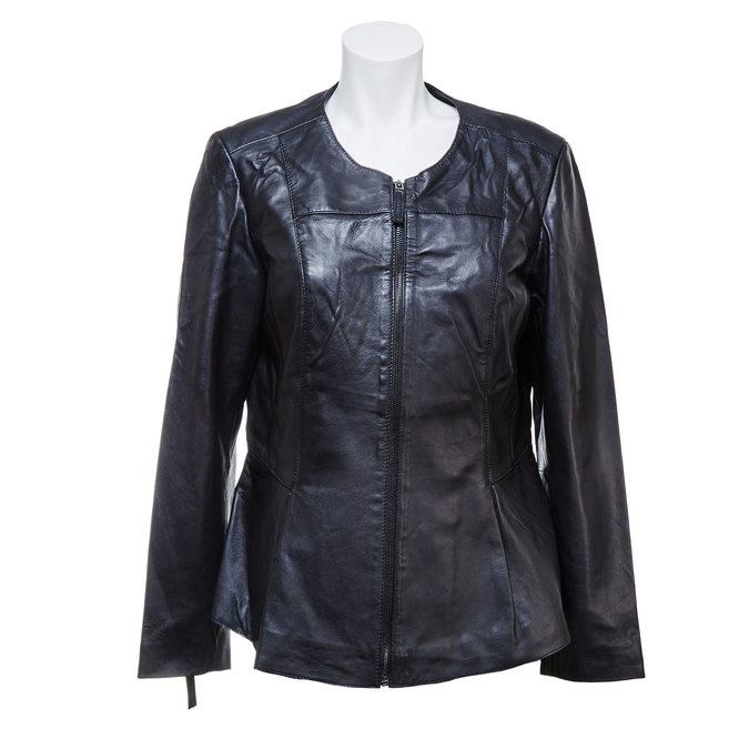 Dámská kožená bunda černá bata, černá, 974-6173 - 13