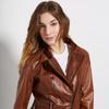 Dámská kožená bunda se zipy bata, hnědá, 974-3162 - 16