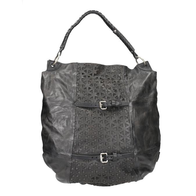 Kožená kabelka a-s-98, černá, 966-6022 - 26