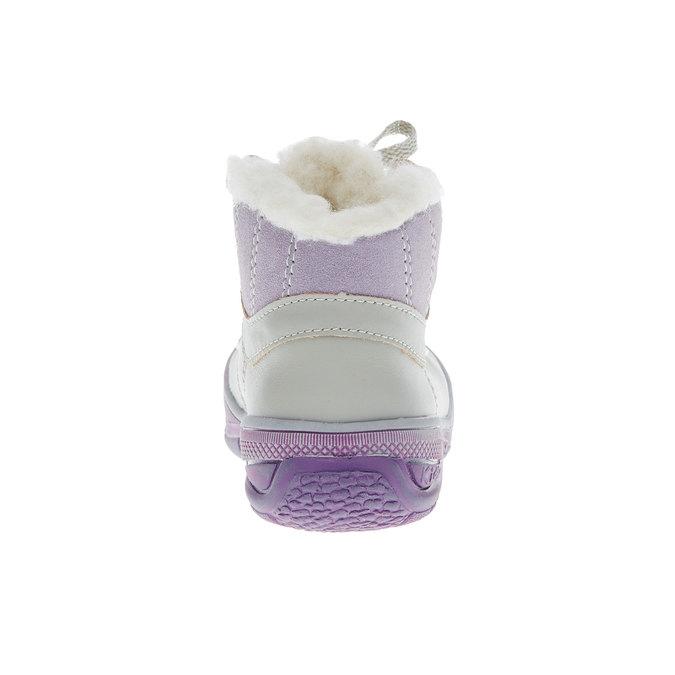 Kožené zimní boty ke kotníkům mini-b, šedá, 124-2105 - 17